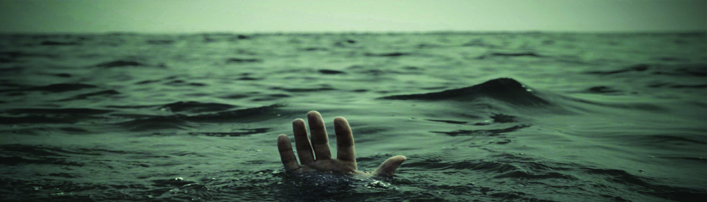 image of someone drowning in ocean